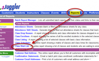 How to find a waitlist report How to find the Weight List report
