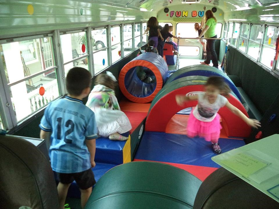 Fun Bus kids in action